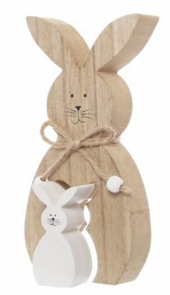 Wooden Rabbits Home Decor