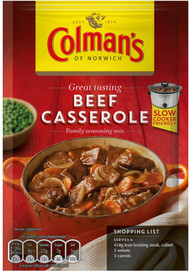 Colmans Beef Casserole Mix 40g (Best Before June 30th 2018)