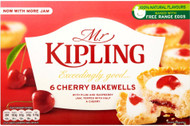 Mr Kipling Cherry Bakewells Pack of 6