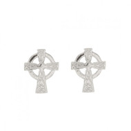 Celtic Cross Stud Earrings