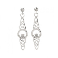 Claddagh Centre And Knotwork Earrings