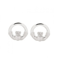 Large Claddagh Stud Earrings