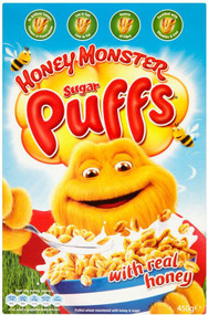 Honey Monster Puff's Cereal 320g (Best Before April 30th 2018)