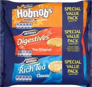 McVities Triple Pack Hobnob 300g, Rich Tea 200g, Digestive 250g