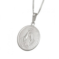 Large Miraculous Medal And Chain