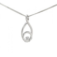 Claddagh Looped Pendant With Chain