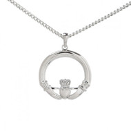 Large Claddagh Pendant With Chain