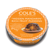 Coles Hidden Mandarin Rich Fruit Pudding 454g