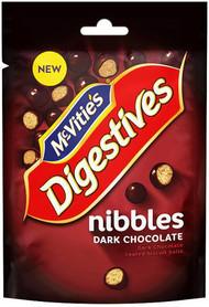 McVities Digestive Nibbles Dark Chocolate 120g