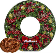 Walkers Wreath Chocolate Shortbread Tin 350g