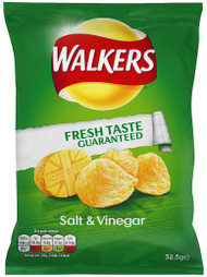 Walkers Crisps Salt and Vinegar 32.5g