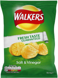 Walkers Salt & Vinegar Crisps 12 Pack