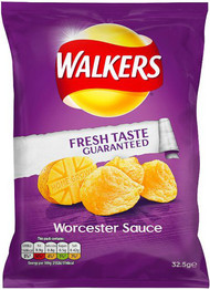 Walkers Worcester Sauce Crisps 12 Pack