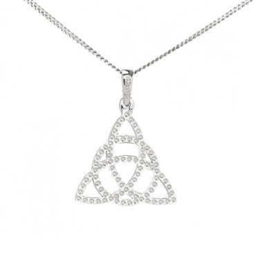 Celtic Trinity Knot Pendant With Chain