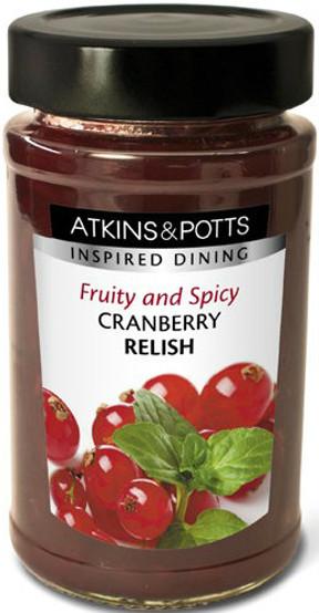Atkin & Potts Spicy Cranberry Relish 240g