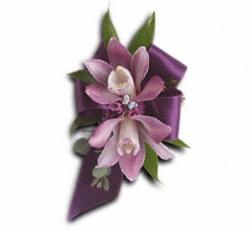 Exquisite Orchid Wristlet