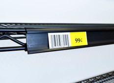 Metro wire shelf ticket and label holder