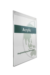 """Acrylic Wall Mount Sign Holder - 8.5""""w x 11""""h 5/Pack"""