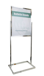 "Premium Poster Stand Display - Chrome - 22""w x 28""h 1/Pack"
