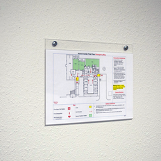 Acrylic wall mount sign holder is a great way to display building maps and information throughout facilities