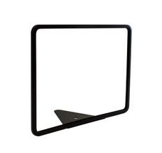 "Wedge Base Metal Sign Frame - Black Finish - Fits 11"" x 8.5"" Sign Insert"