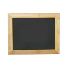 """Bamboo Hanging Sign Frame - Chalkboard Insert - Display 11""""w x 8.5""""h Sign"""