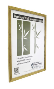 """Bamboo Sign holder works great for displaying signs and posters in facilities and retail stores - Fits 22""""w x 28""""h"""