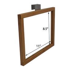 "Bamboo Hanging Produce Bin Sign holder - Displays 11"" x 8.5"" Sign"
