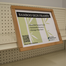 """Channel Mount Bamboo Sign Frame - Displays 11"""" x 8.5"""" Sign"""
