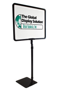 "Shovel Base Retail Sign Frame -  Adjustable Height -  Black Metal - Displays 11""w x 8.5""h Sign"