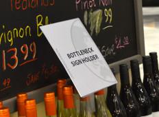"""Bottle Neck Sign Holder - 7.5""""w x 9""""h 10/Pack"""