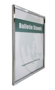 "Steel Wall Mount Sign Frame - Chrome - 22""w x 28""h 1/Pack"