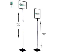 Lobby Sign holder with adjustable height