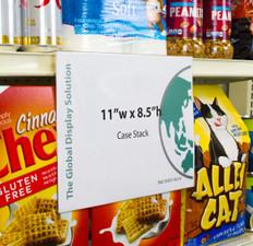 Case stack sign holder sleeve - 11  x 8.5