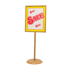 "Bamboo Poster Stand - Weighted Base - 22""w x 28""h 1/Pack"