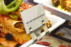Deli Hot Pan Clip - Perfect for displaying labels on bowls and plates