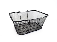 "Black Mesh Wire Basket 16""w x 12"" H x 6.5"" D  10/Pack"