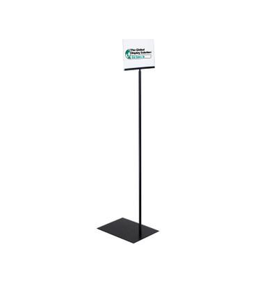 Pedestal sign holder with acrylic sign holder