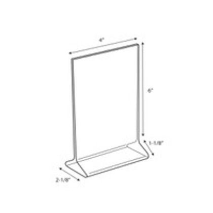 """Display Stand - 4""""w x 6""""h 4/Pack"""