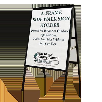 A-Frame Sidewalk Sign Holder - Black - 22\