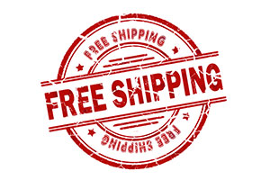 Free shipping on all web orders $1000 or more
