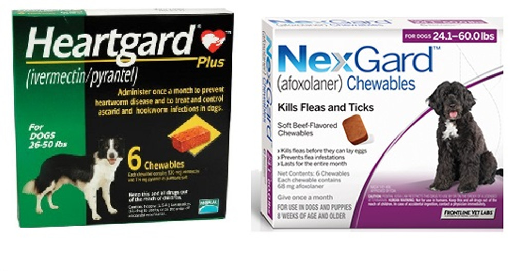 Nexgard And Heartgard Combo For Dogs 24 1 50 Lbs 6