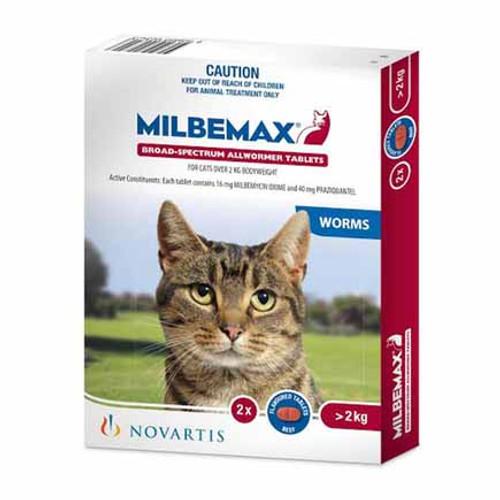 Milbemax Cat 4.1 - 17 lbs Two Tablet Pack