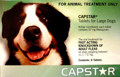 Capstar Flea Treatment Tablets for Dogs 26-125 lbs - 6 Tablets