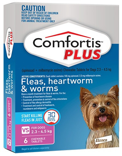 Comfortis Plus for Dogs 5-10 lbs - Pink 6 Pack