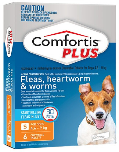 Comfortis Plus for Dogs 10.1-20 lbs - Orange 6 Pack