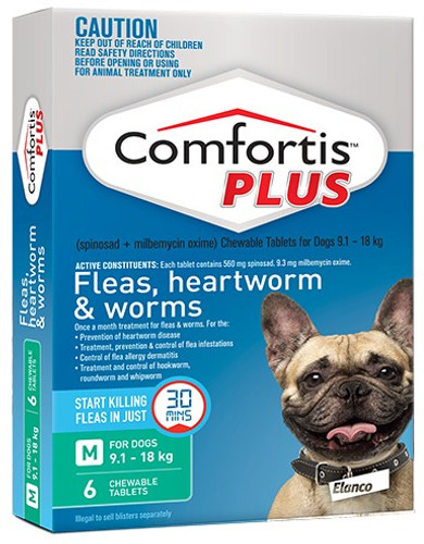 Comfortis Plus for Dogs 20.1-40 lbs - Green 6 Pack