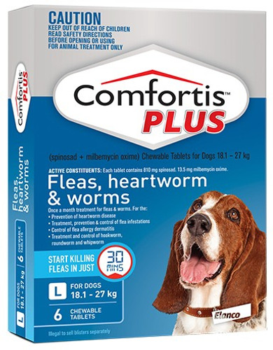 Comfortis Plus for Dogs 40.1-60 lbs - Blue 6 Pack