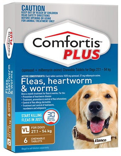 Comfortis Plus for Dogs 60.1-120 lbs - Brown 6 Pack