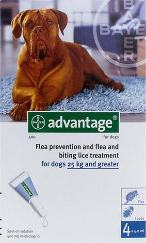 Advantage Blue 4 Pack Extra Large Dogs over 55 lbs